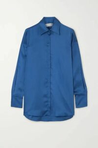 Victoria, Victoria Beckham - Satin Shirt - Royal blue