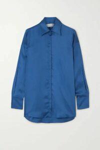 Victoria, Victoria Beckham - Satin Shirt - Royal blue