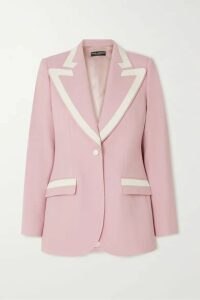 Dolce & Gabbana - Piped Wool-blend Blazer - Pink