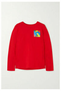 Moschino - Appliquéd Cotton-jersey Top - Red