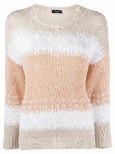 Peserico colour-block jumper - NEUTRALS