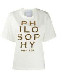 Philosophy Di Lorenzo Serafini embroidered logo T-shirt - White
