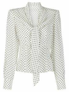 Dolce & Gabbana polka dot blouse - White