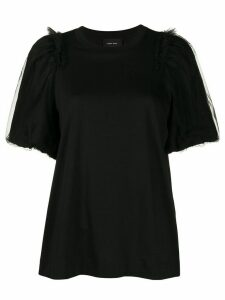 Simone Rocha tulle puff sleeve T-shirt - Black