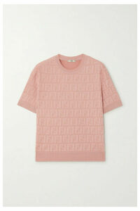 Fendi - Cotton-blend Jacquard Top - Pink