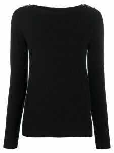 Twin-Set crystal-button jumper - Black