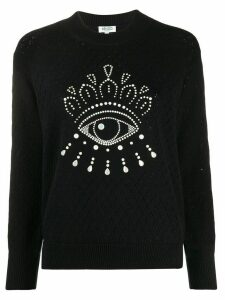 Kenzo embellished Eye jumper - Black