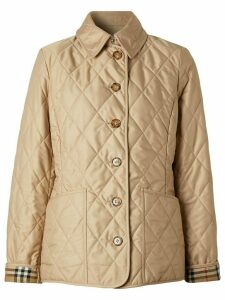 Burberry diamond quilted thermoregulated jacket - NEUTRALS