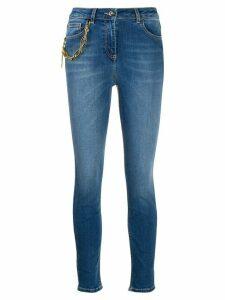 Elisabetta Franchi chain detail skinny jeans - Blue