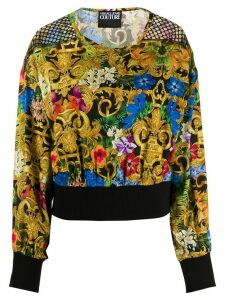 Versace Jeans Couture baroque print long-sleeve top - Black