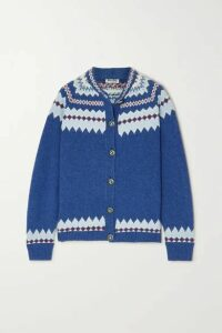 Miu Miu - Fair Isle Wool Cardigan - Blue