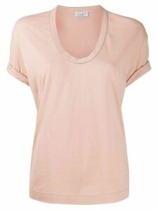 Brunello Cucinelli V-neck T-shirt - NEUTRALS