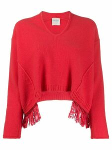 Forte Forte loose-fit fringed jumper - PINK
