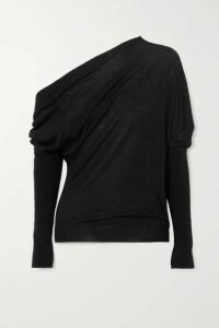 TOM FORD - One-shoulder Cashmere And Silk-blend Sweater - Black