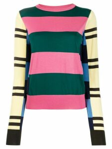 colville striped colour-block jumper - PINK
