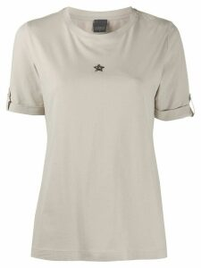 Lorena Antoniazzi round neck star t-shirt - NEUTRALS