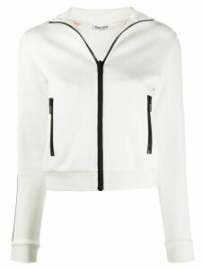 Miu Miu side panelled zipped jacket - White
