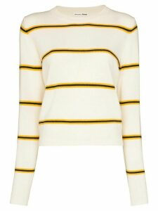 Reformation striped cashmere jumper - NEUTRALS