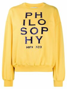 Philosophy Di Lorenzo Serafini embroidered logo sweatshirt - Yellow