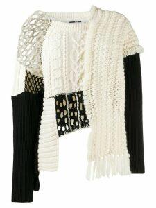 McQ Alexander McQueen Tama patchwork knit jumper - Black