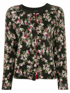 Twin-Set rose print cardigan - Black