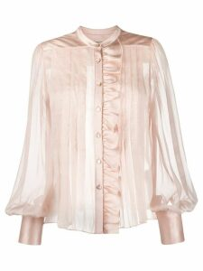 Temperley London pleated sheer blouse - PINK