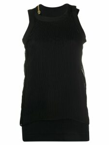 Sacai double-layered tank top - Black