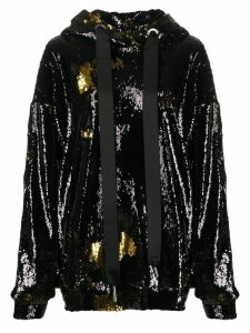 Marques'Almeida sequin embellished hoodie - Black