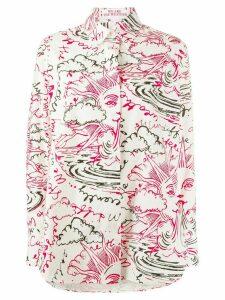 Stella McCartney sun and clouds print shirt - White