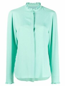 MSGM frill collar shirt - Green