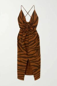 Mara Hoffman - + Net Sustain Lolita Knotted Tiger-print Organic Cotton Maxi Dress - Brown