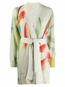 Etro knitted floral pattern cardigan - NEUTRALS
