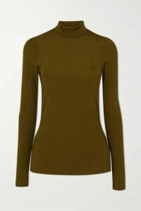 GOLDSIGN - + Net Sustain The Rib Knitted Turtleneck Top - Green