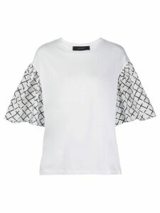 Federica Tosi oversized contrasting-sleeve T-shirt - White