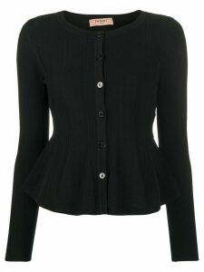 Twin-Set peplum hem cardigan - Black