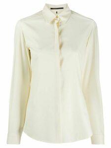 Agnona concealed front shirt - NEUTRALS