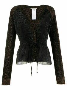 Marco De Vincenzo tie waist glitter detail cardigan - Black