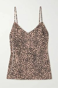 Equipment - Layla Leopard-print Satin Camisole - Pink