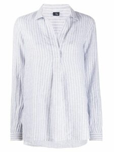 Fay pinstriped point-collar blouse - Grey