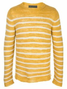 The Elder Statesman Picasso cashmere striped jumper - Yellow