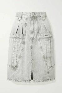 Isabel Marant - Kalosia Pleated Denim Skirt - Gray