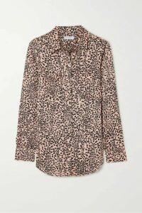 EQUIPMENT - Slim Signature Leopard-print Crepe De Chine Shirt - Pink