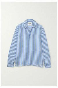 Jil Sander - Striped Silk-satin Shirt - Blue