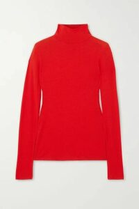 Ninety Percent - + Net Sustain Kaye Ribbed Organic Cotton-jersey Turtleneck Top - Red