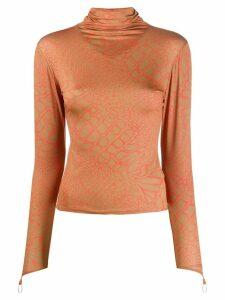 Maisie Wilen stretch-fit top - Brown