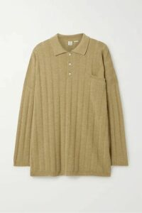 Totême - Bonifacio Oversized Ribbed Merino Wool Sweater - Tan