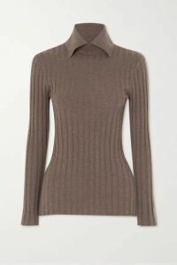 Totême - Aviles Ribbed Wool-blend Sweater - Beige