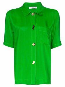 Rejina Pyo crinkle short sleeve shirt - Green