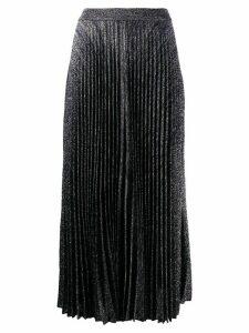 Pringle of Scotland high-rise pleated midi skirt - SILVER