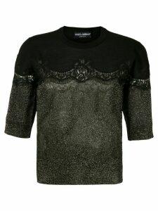 Dolce & Gabbana lace insert glittered jumper - S9000